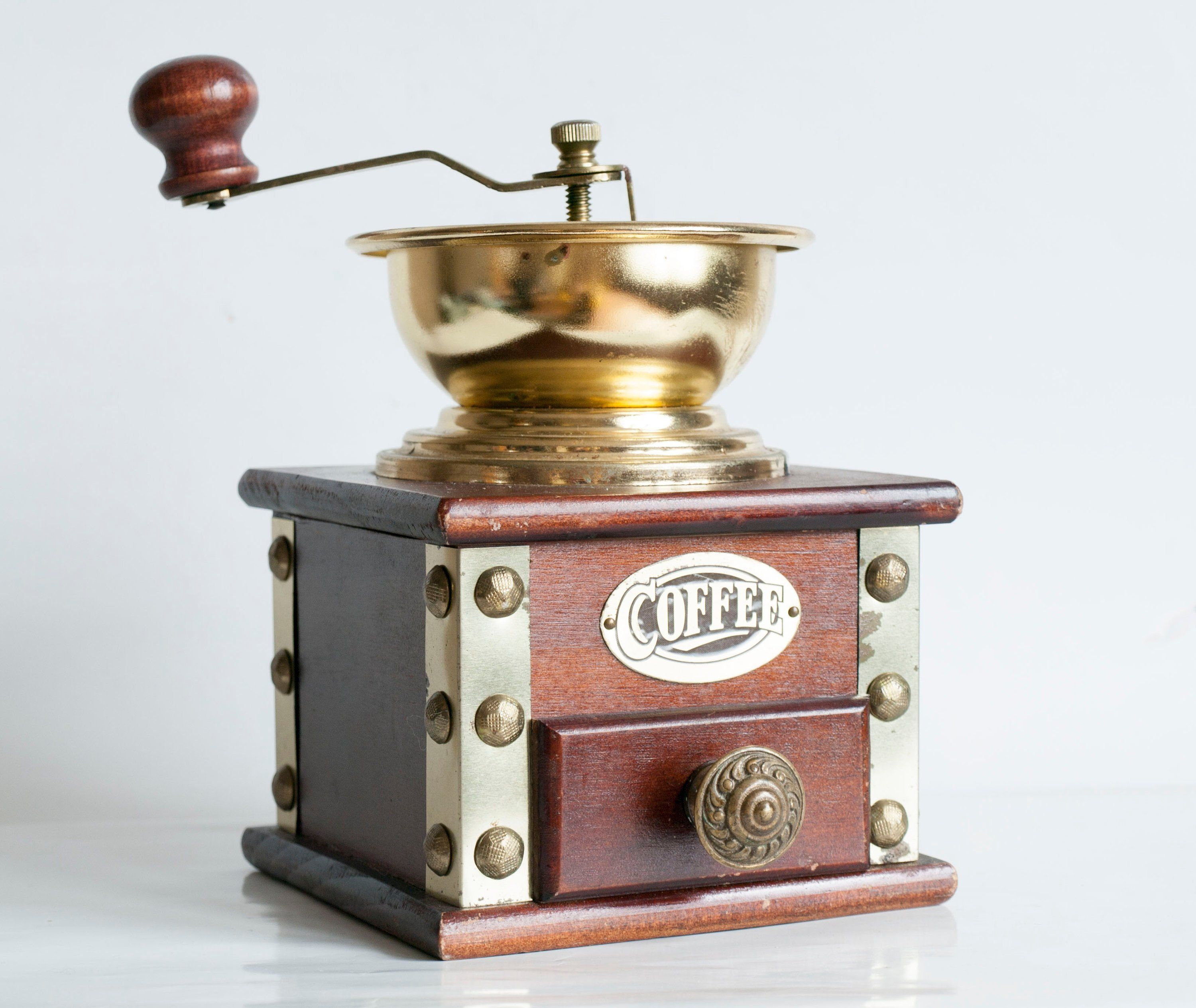 French metal coffee grinder French Kitchen decor