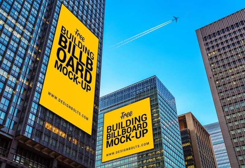 Free Outdoor Building Advertising Billboard Mock Up Billboard Mockup Outdoor Advertising Billboard Outdoor Buildings