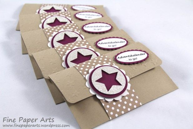 Mini Adventskalenderto Go Fine Paper Arts