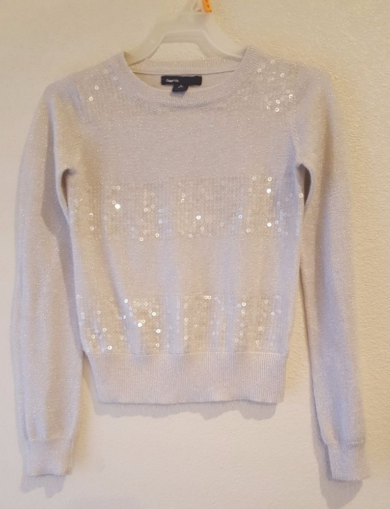 Gap kids Girls Size Small (6-7) Cardigan Long Sleeve Sequin ...