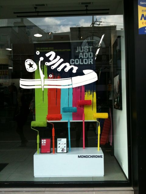 c243ba9382c1 Converse Shoes window graphic. Love the graphics combined with the physical  props! Call me if you want to do something similar!
