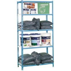 Photo of Shelf shelf S – Click 5/300 blue / white, dimensions: 180 x 90 x 30 cm (H x W x D), load: 180 kg, feet