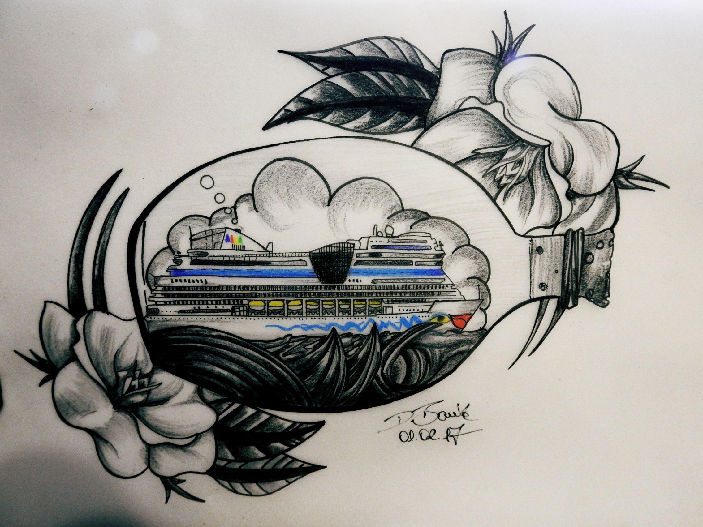 tattoo #Art #Design #custom #drawing #pencil #vorlage #entwurf #aida ...