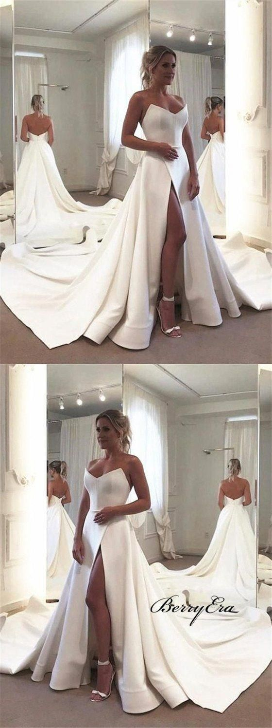 The Designs Of Bridal Gown Alter With The Seasons However There Are A Few Classic Designs That Wi Wedding Dresses Strapless Wedding Dresses Satin Satin Wedding