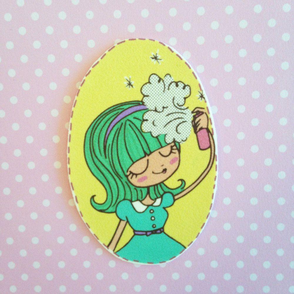 Hairspray Beauty Brooch (12.00 USD) by AmyRoseStudios