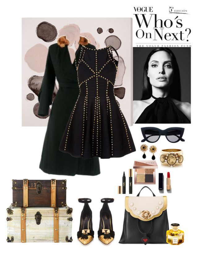 """Sin título #365"" by antisocial-crybaby ❤ liked on Polyvore featuring Oliver Gal Artist Co., Gucci, L'Artisan Parfumeur, Balmain, Chanel, Bobbi Brown Cosmetics, Yves Saint Laurent, Dolce&Gabbana and Oscar de la Renta"