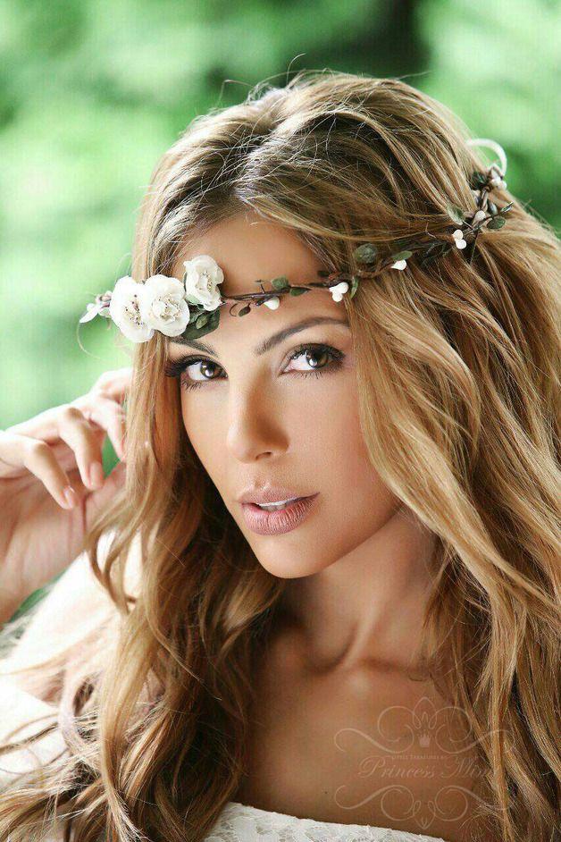 Haarbänder Blumenkranz Hochzeit Haarband Blumen Haarschmuck Ein