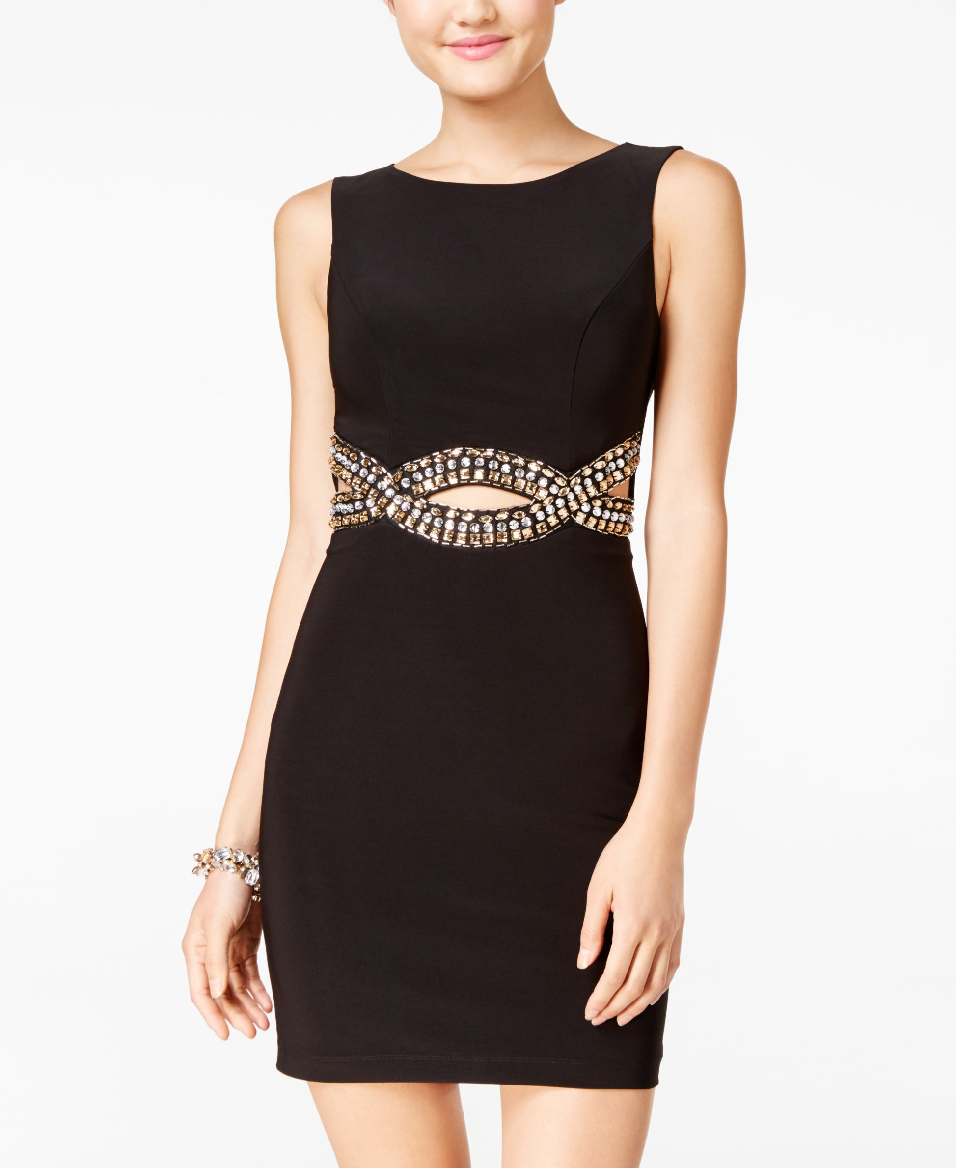 B darlin juniorsu openback rhinestoneembellished dress váy đầm