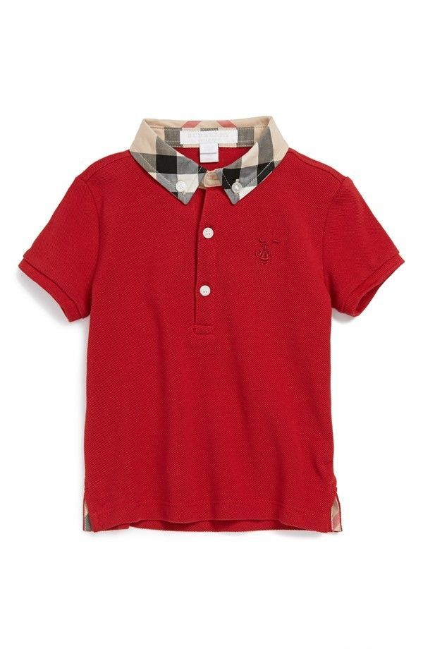d6ee5f8ac2e7  burberry children infant boy s red  mini william  polo shirt sz 9 months  fashion from  9.99