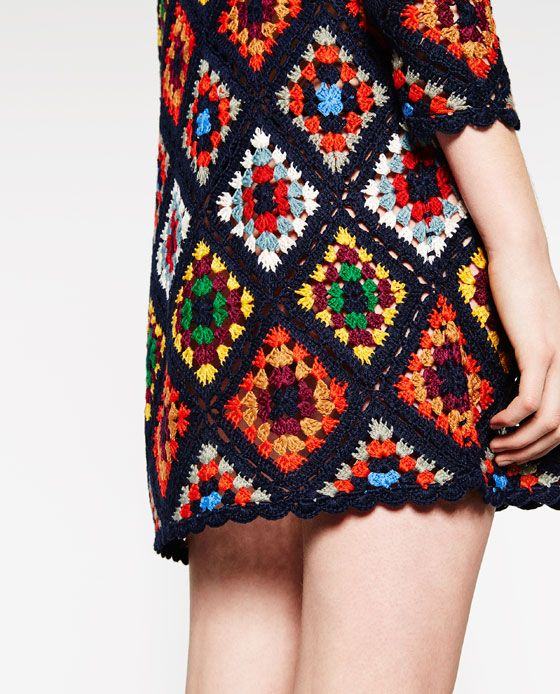 Imagen 6 de VESTIDO CROCHET MINI de Zara | Tığ işleri