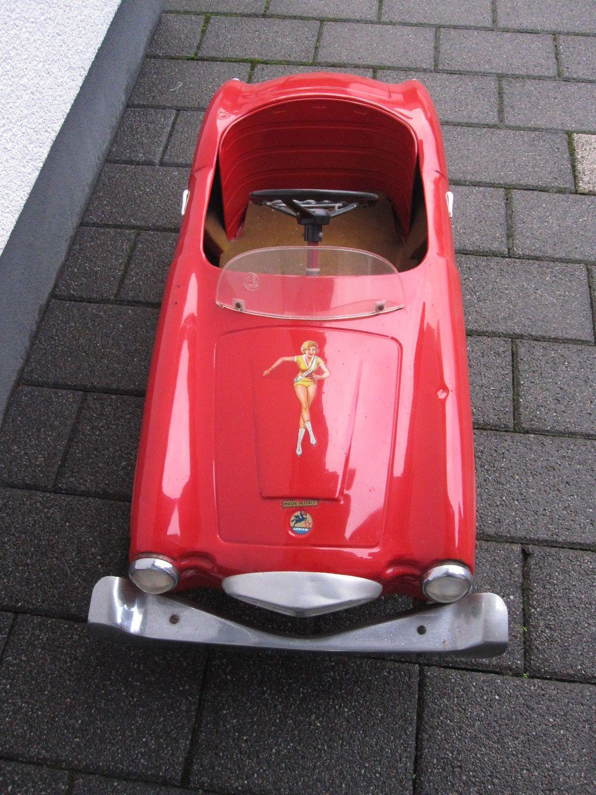 Rarität Original rotes Tretauto 50er Jahre Firma Gioardani Blechauto ...