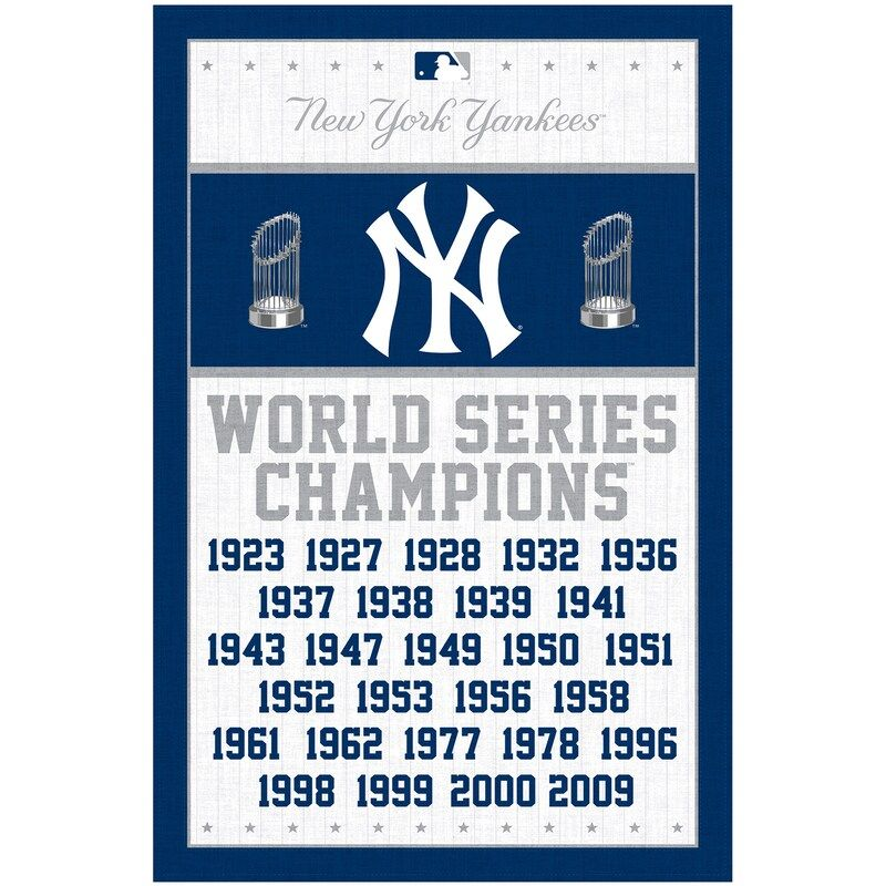 New York Yankees 23 X 34 Multi Champs Wall Poster Yankees World Series New York Yankees Yankees