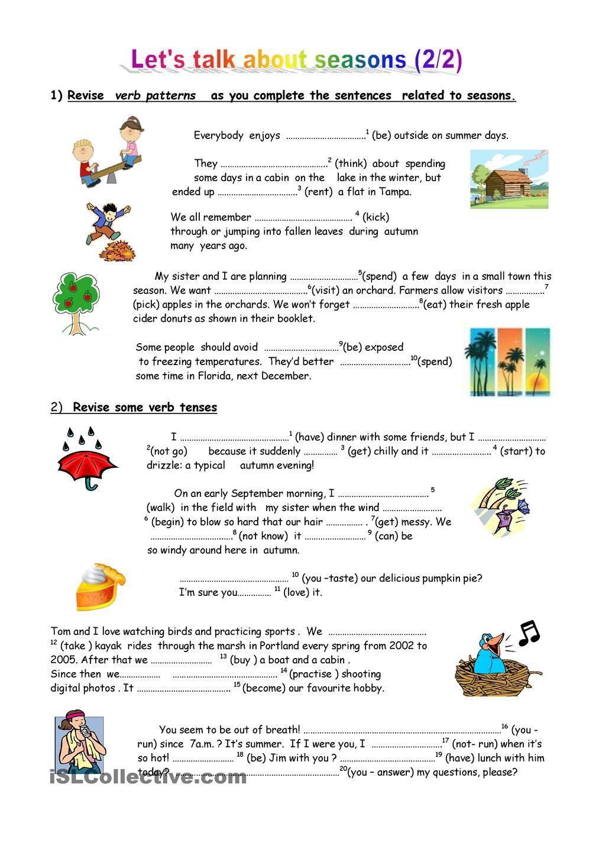 worksheet Weather Patterns Worksheet lets talk about seasons 2 weather pinterest worksheets worksheet free esl printable made by teachers