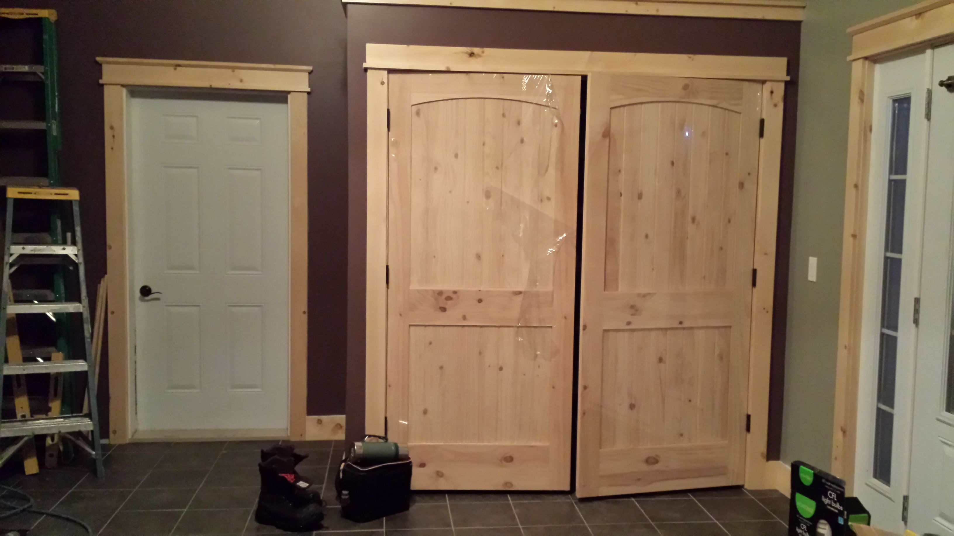 Superb Closet Doors, Knotty Pine Arched Ridged Doors   From Lowes