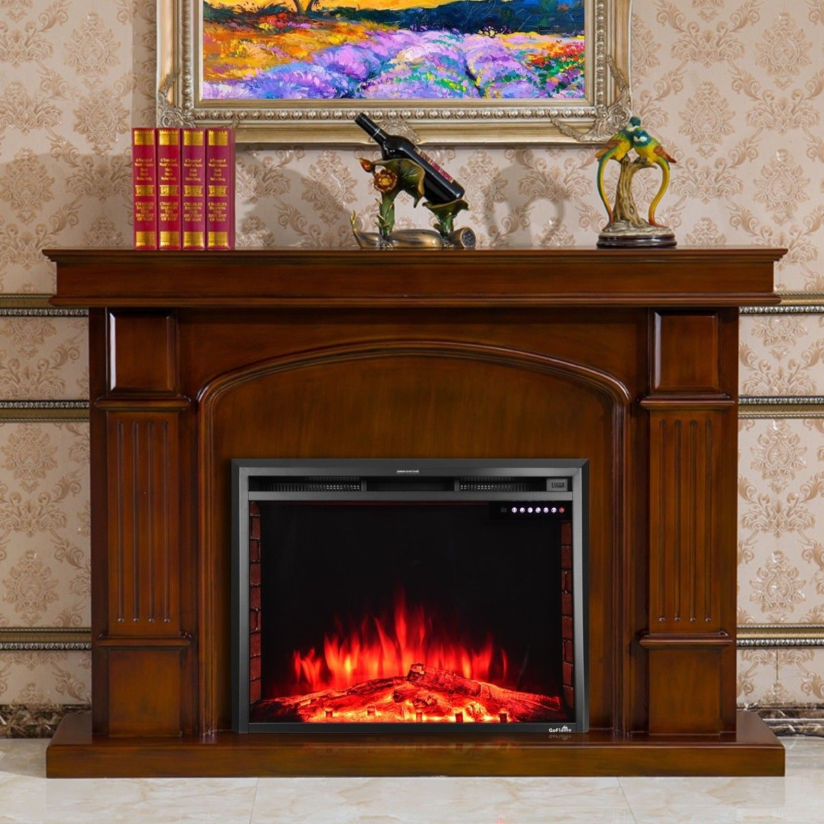 36 electric fireplace insert freestanding stove heater home rh pinterest com