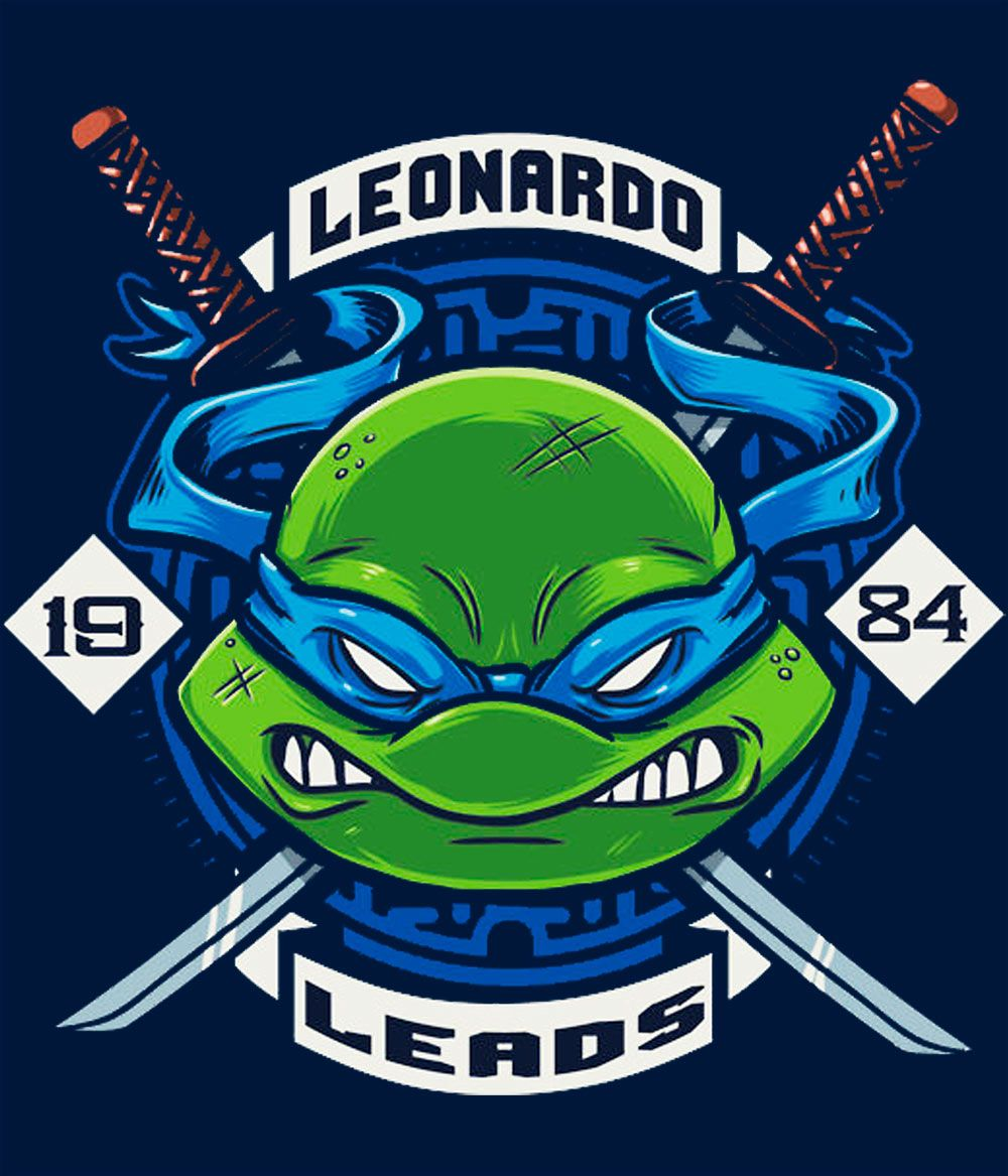 Camiseta Tortugas Ninja Leonardo  TMNT Ninja turtles and Comic