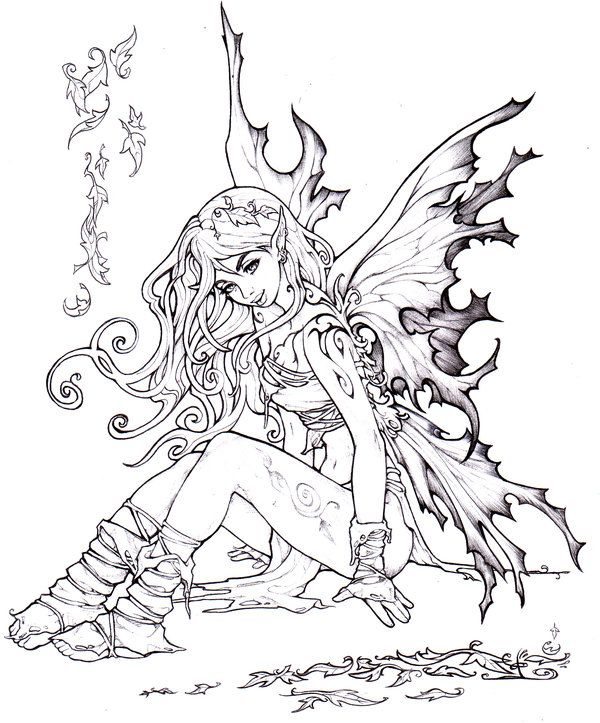 fairy coloring pages pinterest - photo#31