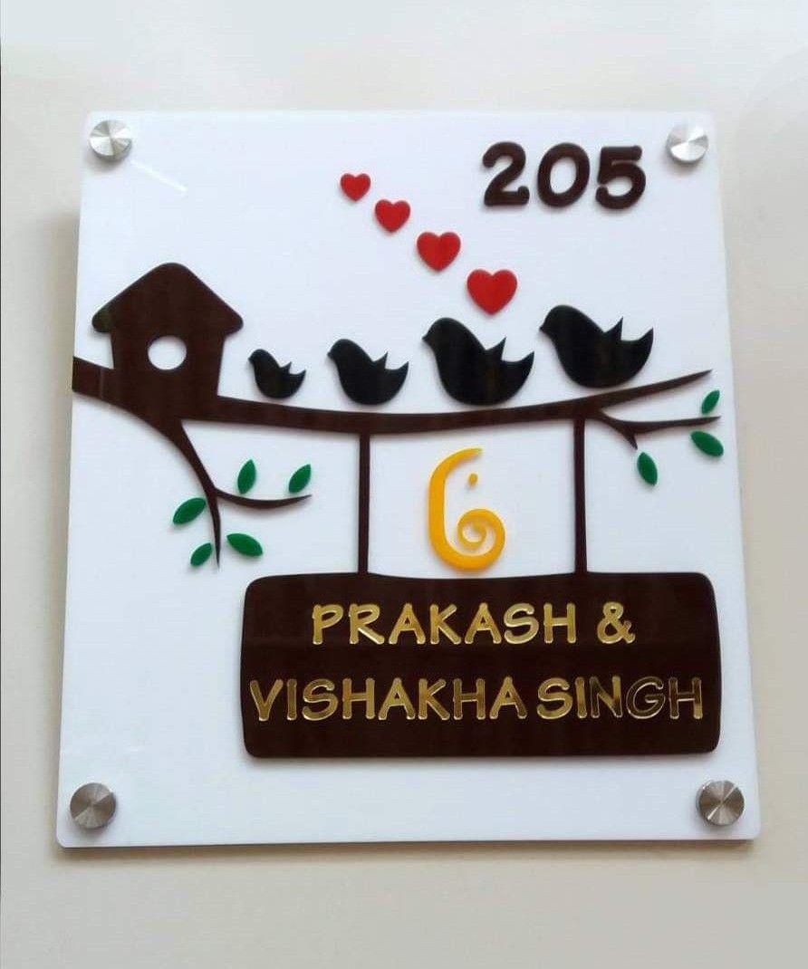 Acrylic Name Plate Name Plate Design Door Name Plates Name Plates For Home
