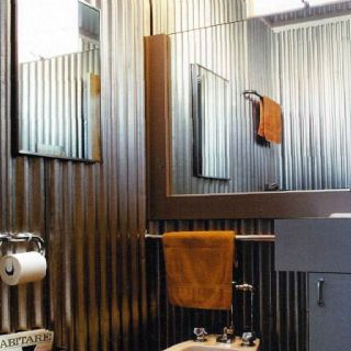 Man Cave Bathroom Cover Walls In That Sheet Metal Man Cave Bathroom Man Bathroom Bathroom Design