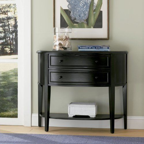 table console sofa hall white entryway entry slim long black shelves with small drawers cherry