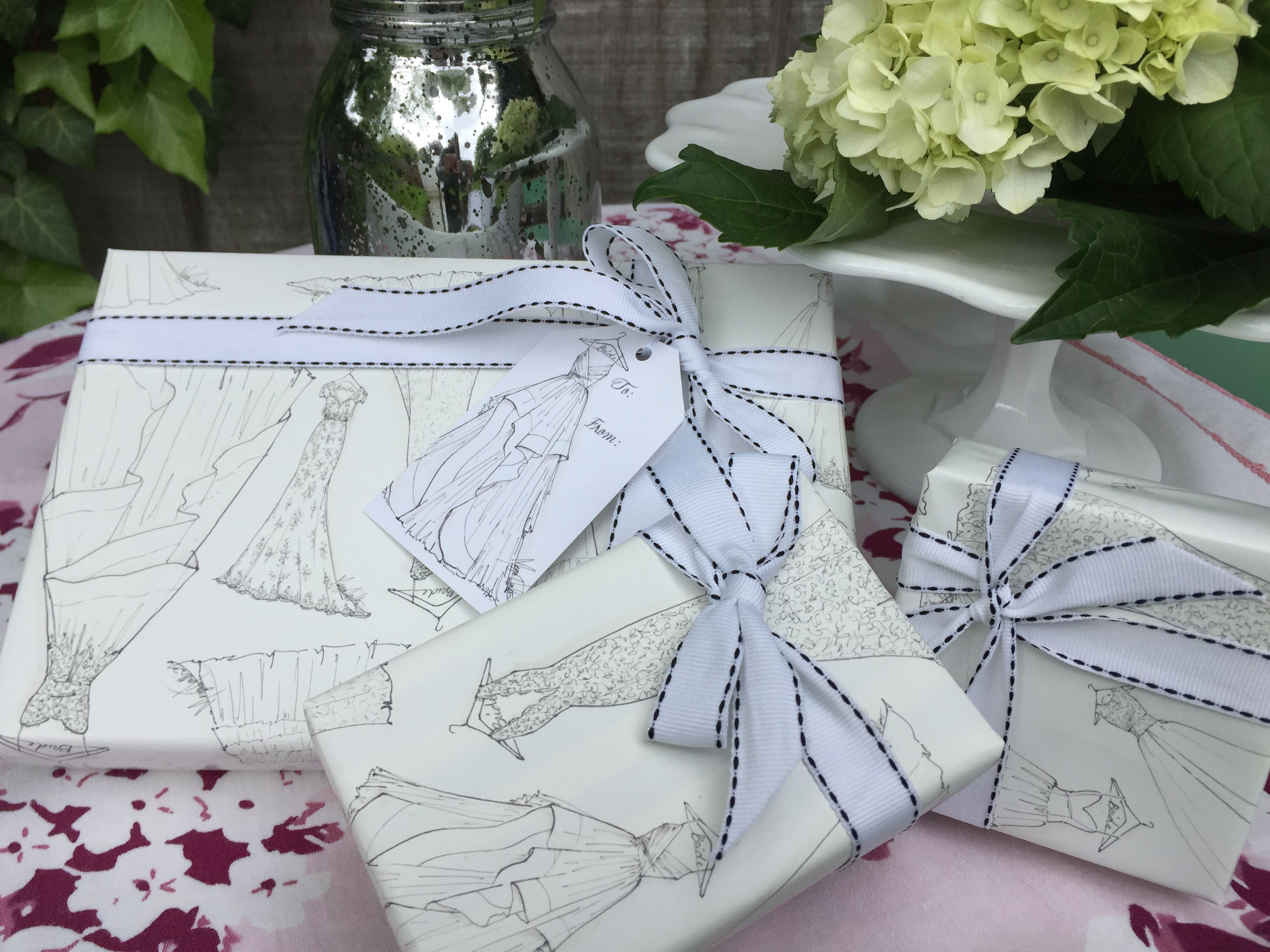 wrap your bridal shower gifts in style wrapping paper and gift tag sets available at