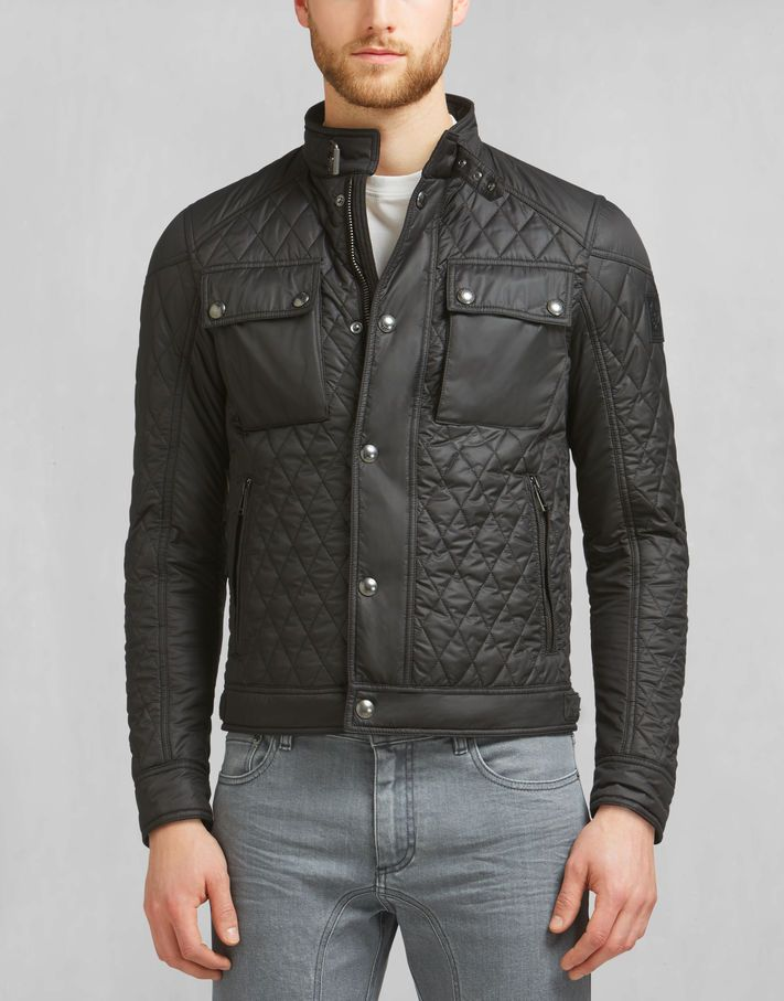 Racemaster Quilt Blouson - Black Quilted Jackets#LTb