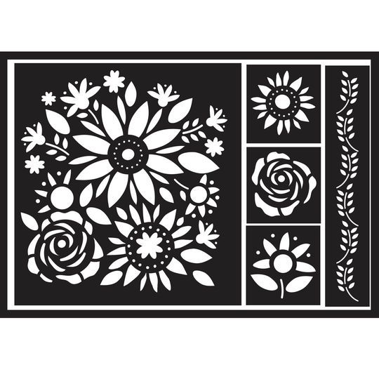 Diy Home Floral Bouquet Adhesive Stencil By Artminds Michaels
