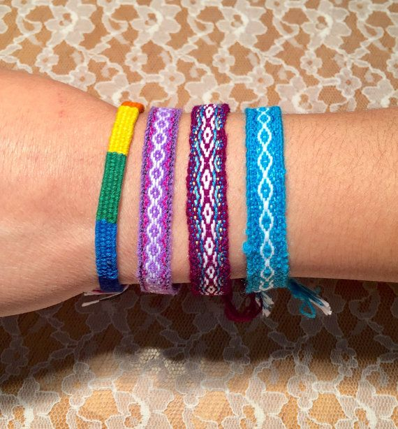 Handwoven Latin Bracelets  Shipping Included by LosChapines