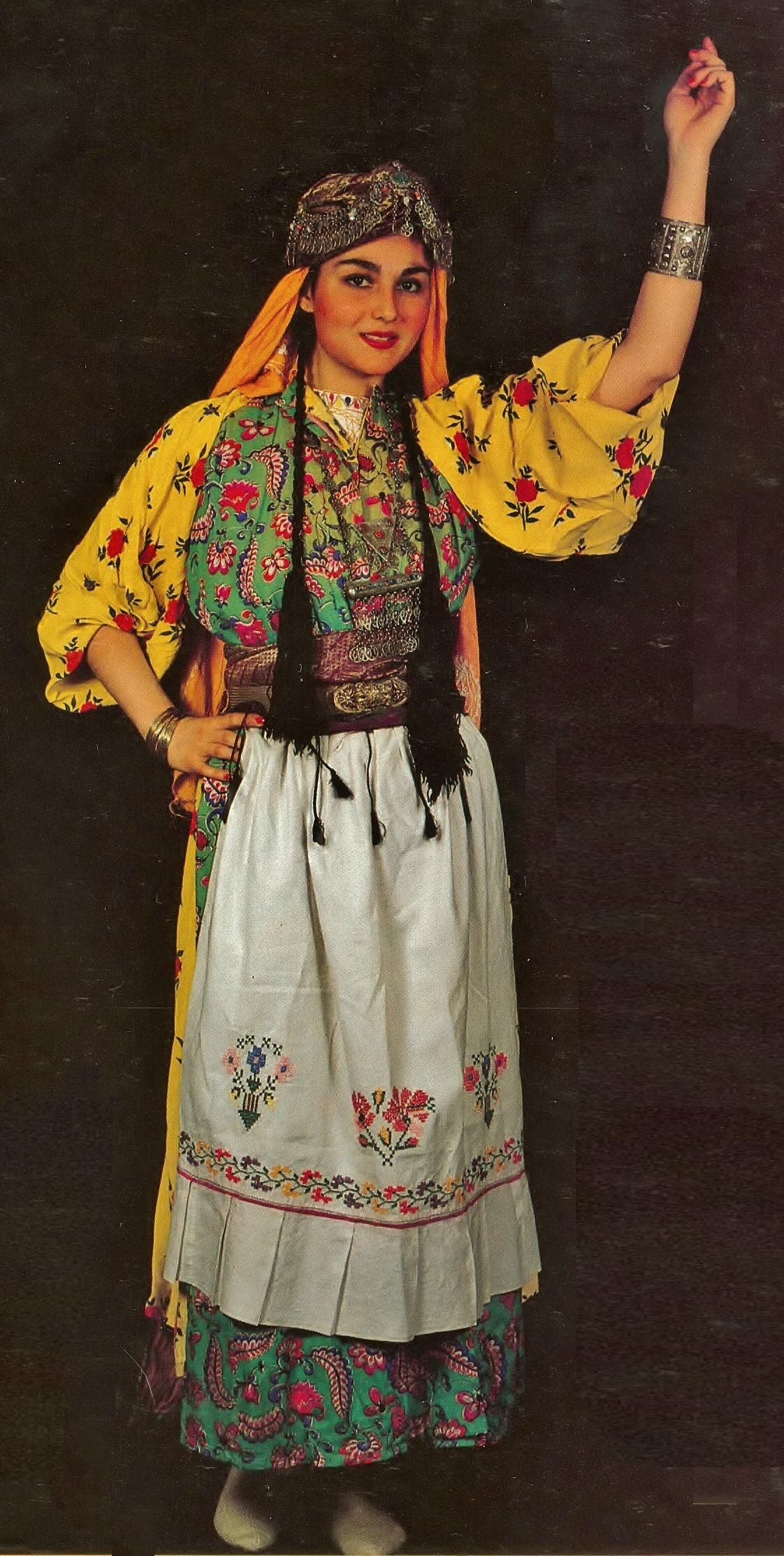 Traditional festive village costume from the Gaziantep ...