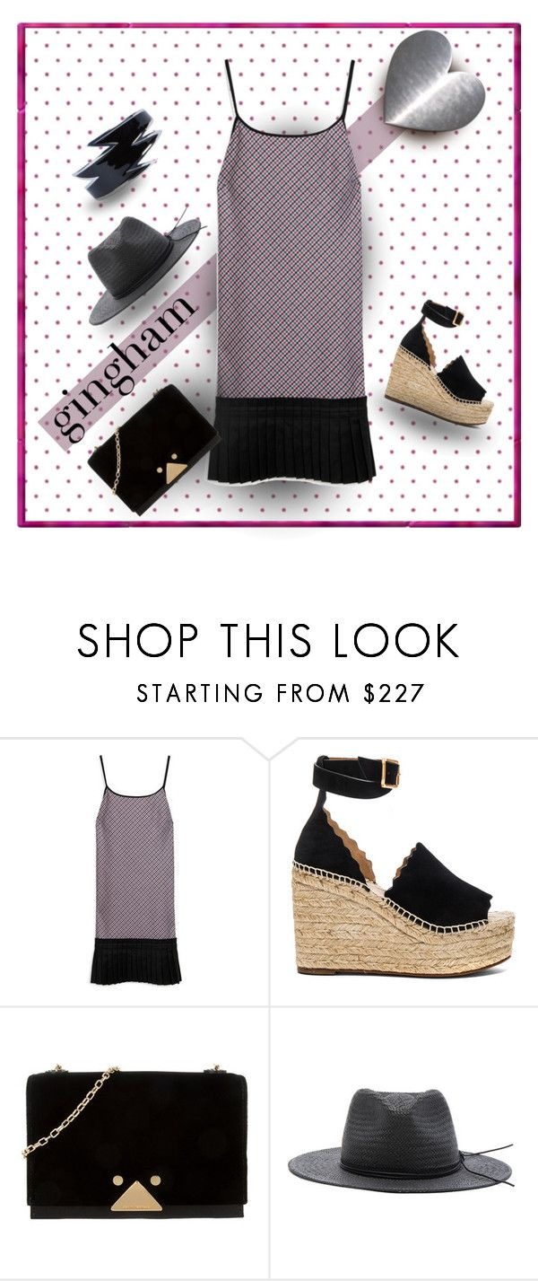 """""""Dotty World"""" by michelletheaflack ❤ liked on Polyvore featuring Mulberry, Chloé, Emporio Armani, rag & bone, Dsquared2, gingham, ginghamdress, polyvorecontests and styleinsider"""