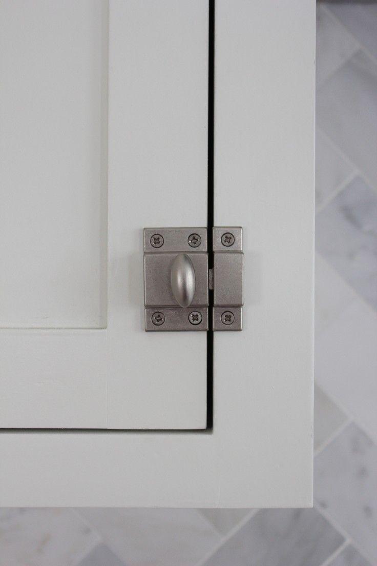 cabinet locks | the Grit and Polish Martha Stewart matchbox latches ...