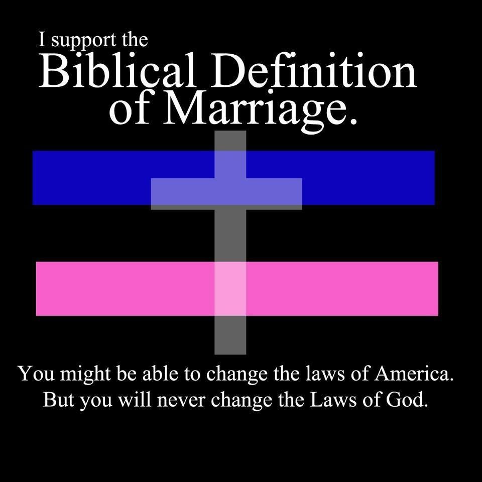 I Support The Biblical Definition Of Marriage You Might Be Able To Change The Laws Of America But You Will Never Change The Laws Of God