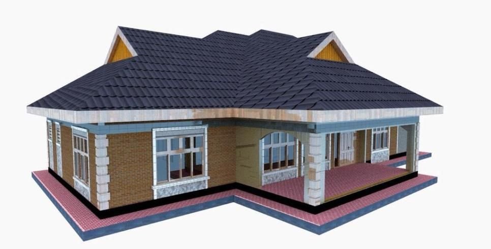 Simple 3 bedroom house plan for a small family in Kenya in ...