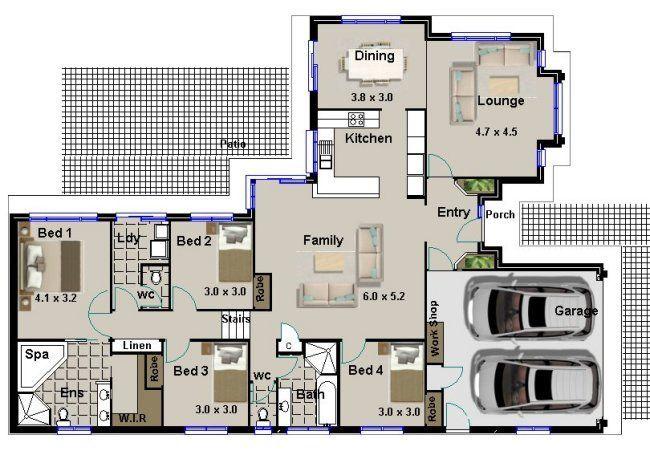 Superbe 4 Bed Split Level House Plan