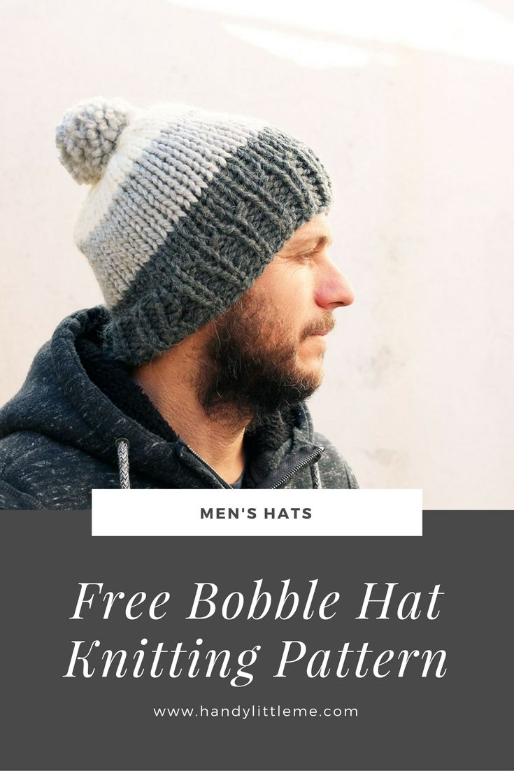 Easy hat free knitting pattern.Make a striped mens beanie for your ...