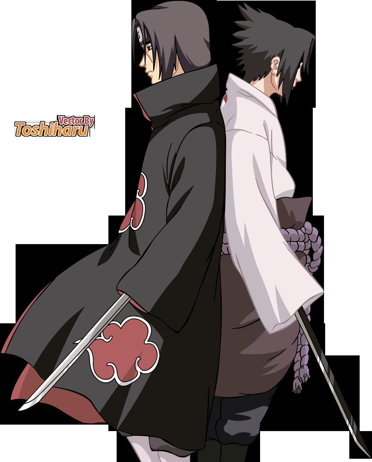 Uchiha Brothers Itachi & Sasuke Uchiha naruto Anime mangas