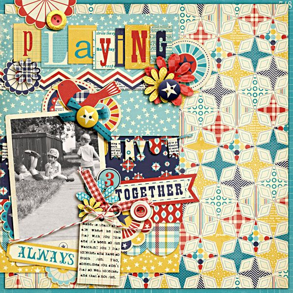 """Layout by Heather Greenwood featuring """"Hometown Proud"""" coming 7/2 from Design by Dani at www.JessicaSprague.com!"""