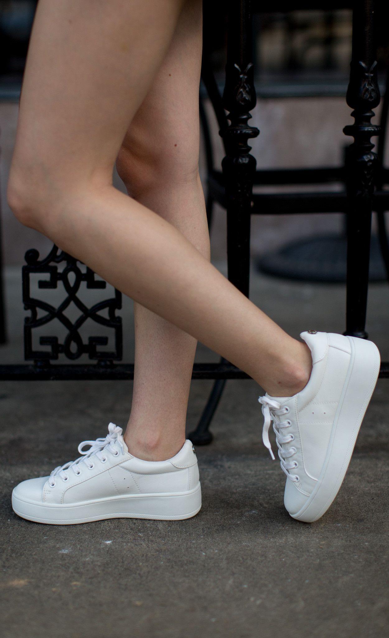 Steve Madden - Shoe - Steve Madden Bertie Sneaker - White - Cheeky Peach  Boutique -