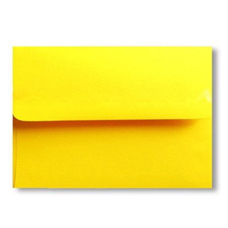 Free shipping 25 bright yellow a7 5 14 x 7 14 envelopes for free shipping 25 bright yellow a7 5 14 x m4hsunfo