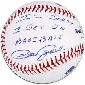 Walmart Com Pete Rose Autographed Baseball Details I M Sorry I Bet On Baseb Pete Rose Autographed Baseballs Baseball