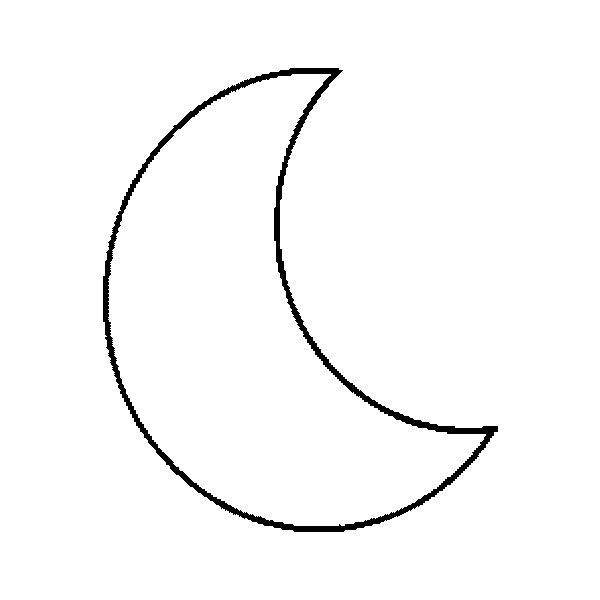 Crescent Moon Colourin Haa ه Helal Crescent هلال Moon