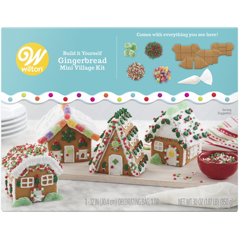 Wilton Build It Yourself Gingerbread Mini Village Decorating Kit