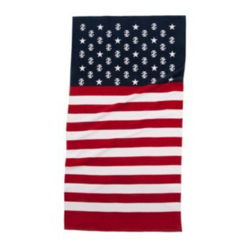 Izod Stars Stripes Beach Towel With Images Striped Beach