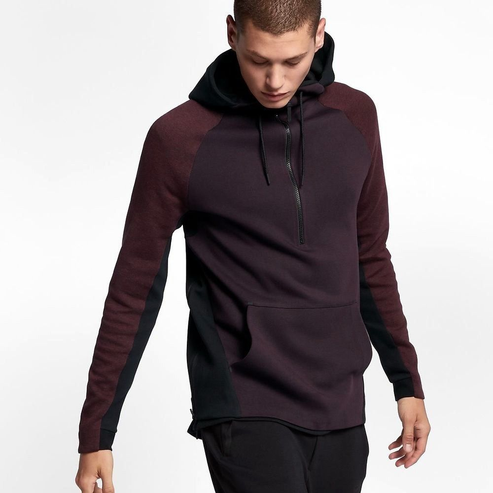 Men/'s Pullover Jacket Fashion Side Zipper Hoodies Hooded Outwear Sweatshirt Q