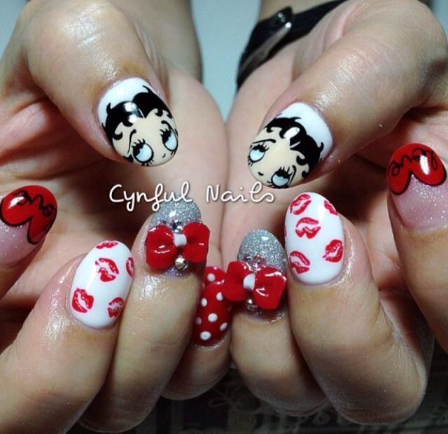 Betty Boop Nail Art Love Pinterest Betty Boop