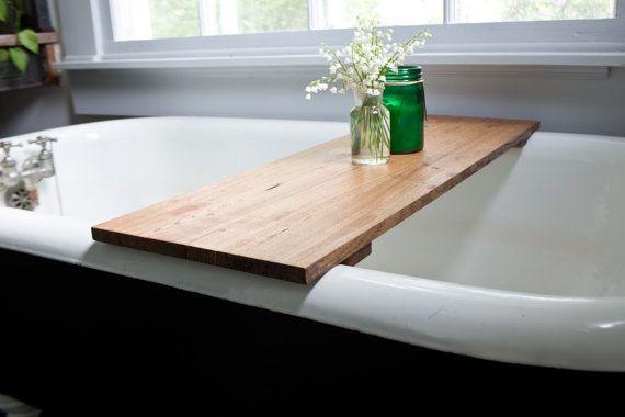 Oak Bathtub Tray Caddy  Wooden Bath Tub Caddy Wood