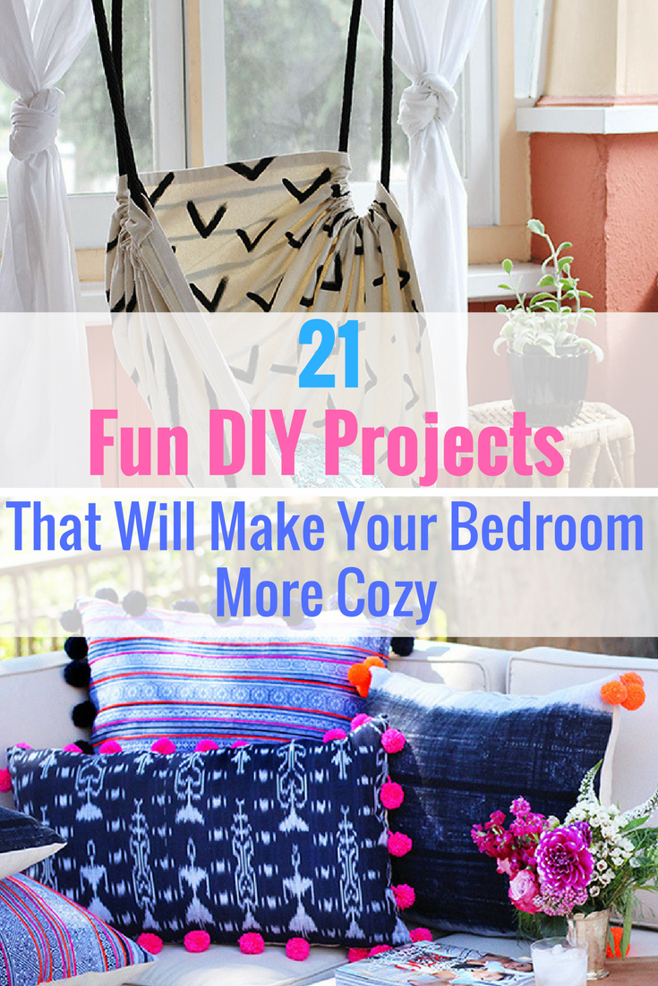 21 fun diy projects that will make your bedroom more cozy | easy