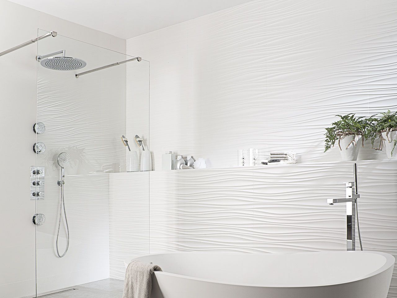 Oxo line blanco 31 6 x 90 cm ba os pinterest ba os for Porcelanosa douche