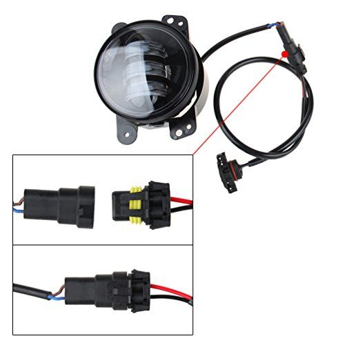 Led Fog Lights Lamp Adapter Wires For 2010 And Up Jeep Wrangler Jk Led Fog Lights Lamp Light Led