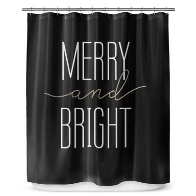 The Holiday Aisle Runkle Single Shower Curtain Colour White In